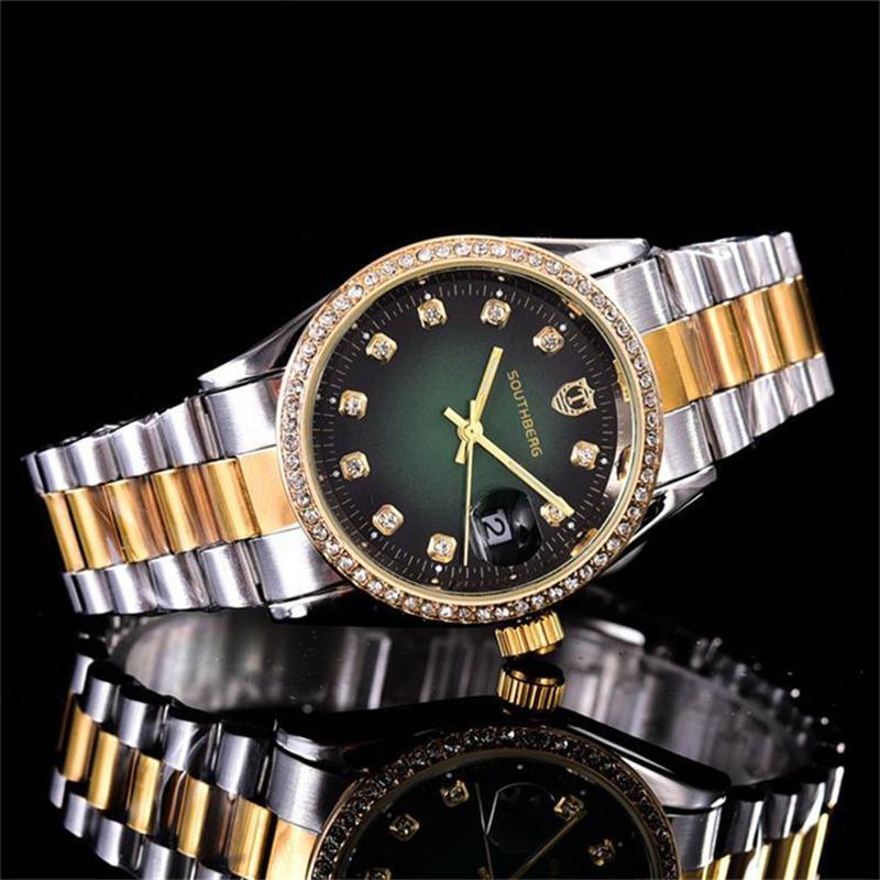 36mm cristalina de lujo Dial cuarzo de la pulsera de cuarzo Mujer 33tch 33tches acero inoxidable relojes de diamantes del relogio envío 33