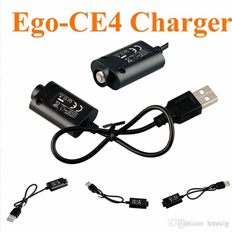 4 styles Ego USB chargeur Cigarette électronique E Cig Chargeurs pour Ego T Ego c EVOD vision spinner 2 3 mini batterie