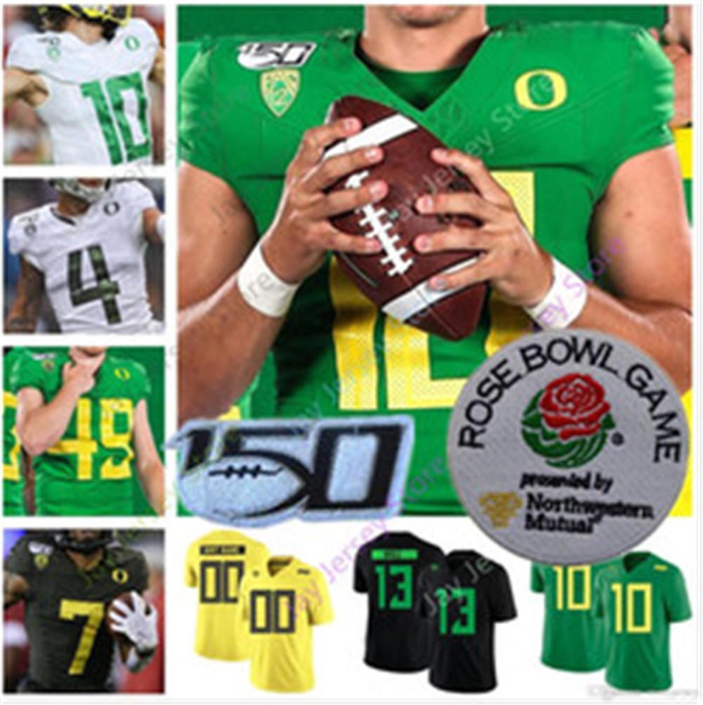 2020 New Rose Bowl Oregon Ducks Football Jersey College Justin Herbert CJ Verdell Travis Dye Breeland Johnson III Redd Mase Funa
