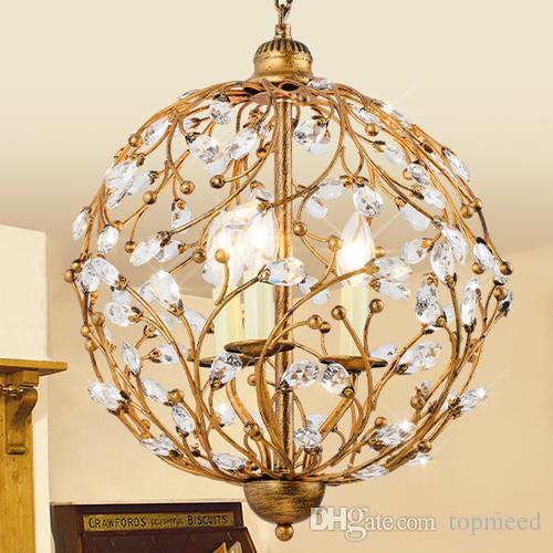 New led pendant K9 crystal chandeliers lamps for coffee shop bar club hotel restaurant decoration retro pendant lighting pendant lights