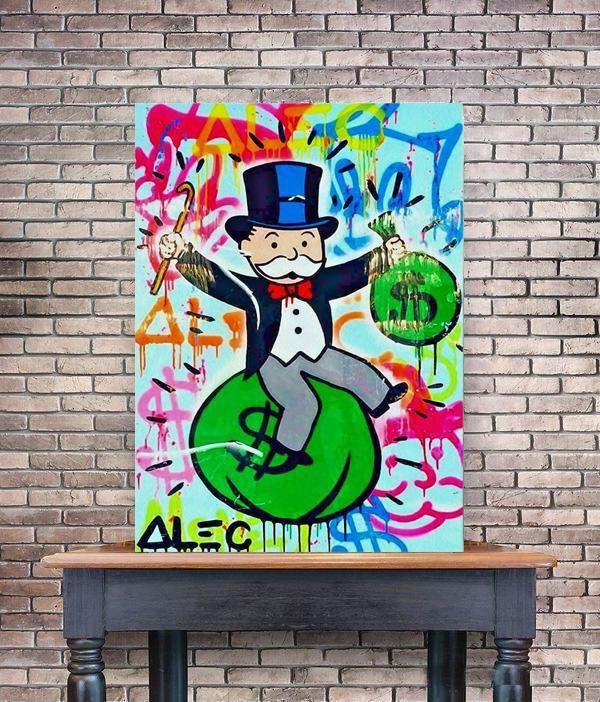 Alec Monopoly Claims Victory Home Decor Handpainted &HD Print Oil Painting On Canvas Wall Art Canvas Pictures 200519