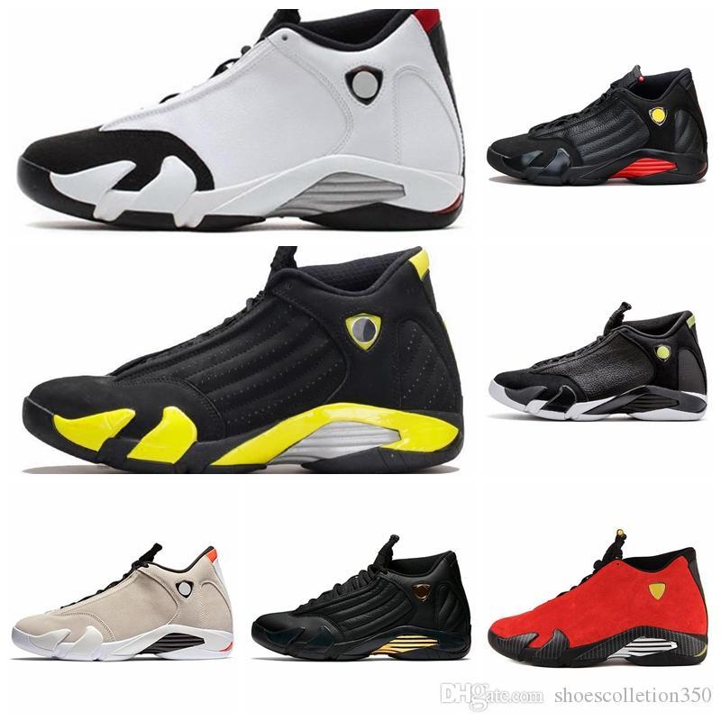 Nike Air jordan 14 Retro AJ AJ14 2019 14 candy cane tênis de basquete último tiro 2018 14 s tênis esportivos branco Varsity vermelho vermelho metálico preto acentos polvilhados
