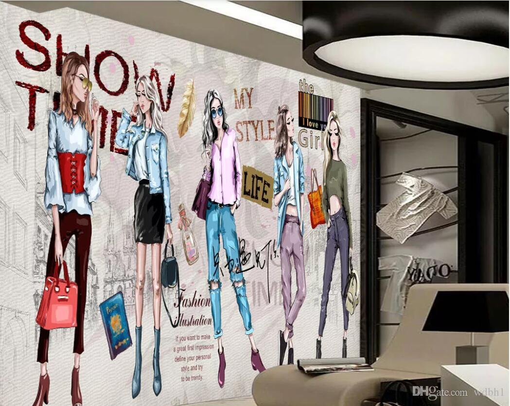 3d room wallpaper custom photo mural HD hand-painted cosmetics clothing store tooling wall wall art canvas pictures wallpaper for walls 3 d
