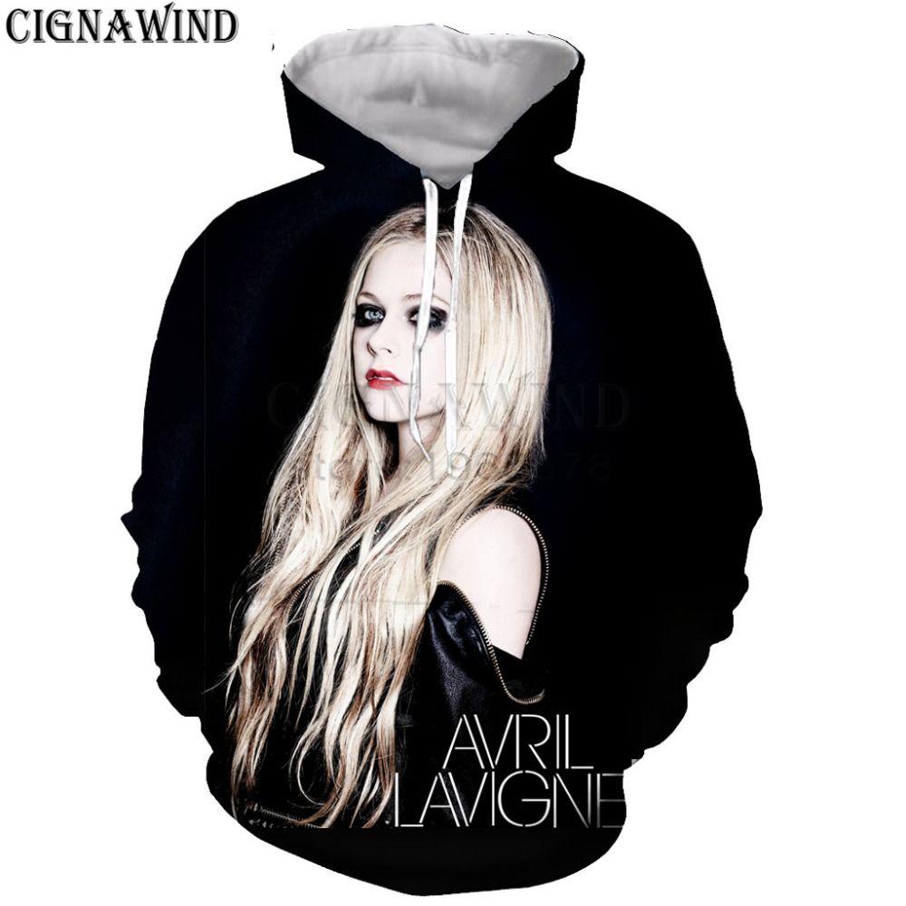 3d Avril Lavigne  Hoodies Sweater Sweatshirt Jacket Mens Women Pullover Tops