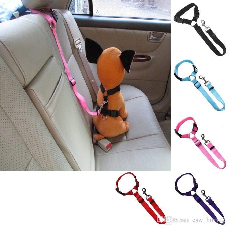 المقود الحيوانات الأليفة سلامة حزام الأمان حزام حزام سيارة المخده ضبط النفس النايلون القماش الكلب ضبط مقعد السيارة حزام تسخير