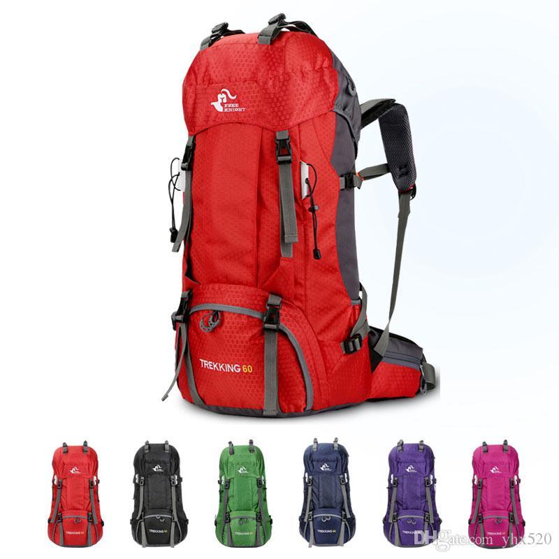 Nueva 60L 50L Mochila al aire libre que acampa bolsa impermeable Montañismo Senderismo mochilas de viaje Deportes del bolso que sube Mochila de bicicletas Bolsas