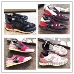 2020 moda scarpe in pelle scamosciata rivetto Rockrunner mimetica uomini e donne piatta scarpe firmate Rockrunner scarpe casual j0428