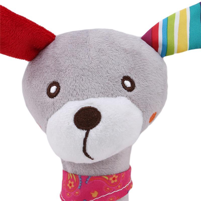 Детские Kid Игрушка мягкая смазливая мультфильм животных Музыкальный ринг Белл BB плюша погремушка Squeaker Раннее Обучающие куклы