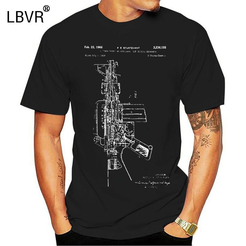 AR15 AR15 Gewehr Blueprint Sling Mag T-Shirt T-Stück Spitze T-Shirt