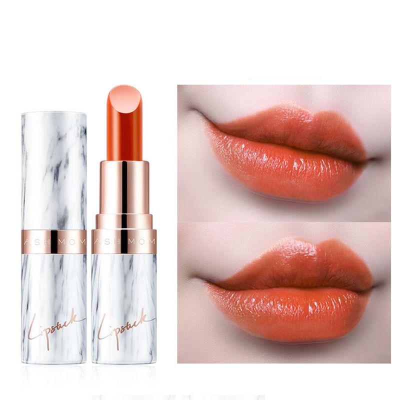 매트 립스틱 대리석 매트 벨벳 립스틱 지속되는 수분이 붙지 않는 컵 풍부한 색상 부드러운 질감의 입술 메이크업