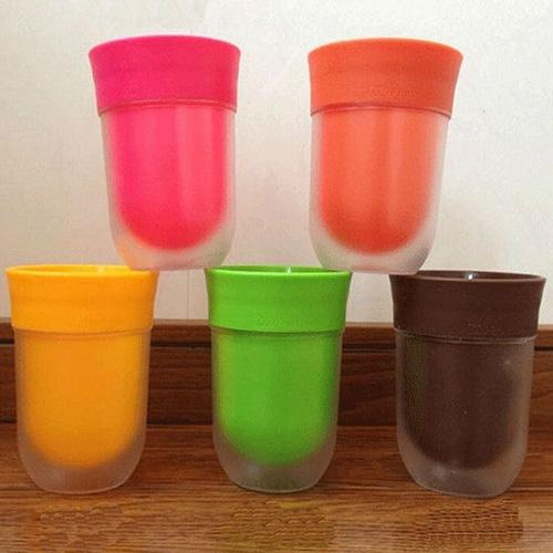 المبدع عصير بنكهة كوب ماء شقة الكؤوس PP البهلوان سهل المياه الأذواق مثل الفاكهة الحق كأس الأزياء كأس