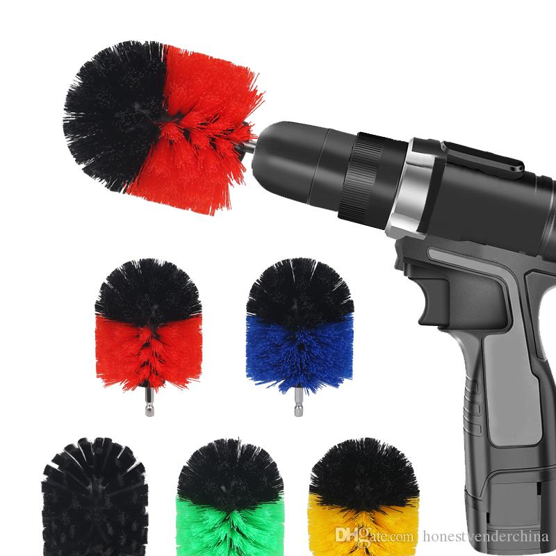 3X 2/3.5/4 Inch Set Electric Cleaning Brush Car Wheel Clear General Clean Home Cleaning Electric Scrub Cleaning Kit