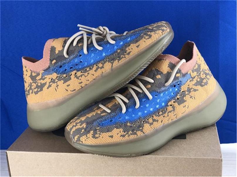 2020 Originals versão 380 azul Aveia Q47306 Reflective estrangeiro Homens Mulheres Running Shoes Calçados Kanye West Top Esportes dos EUA 5-13