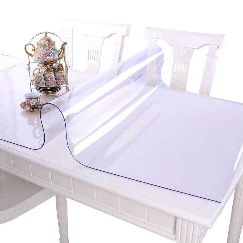 Mantel impermeable de PVC mantel transparente cubierta de mesa de cocina paño de aceite Nappe paño de mesa de vidrio suave paño de mesa 1,0mm Y200421