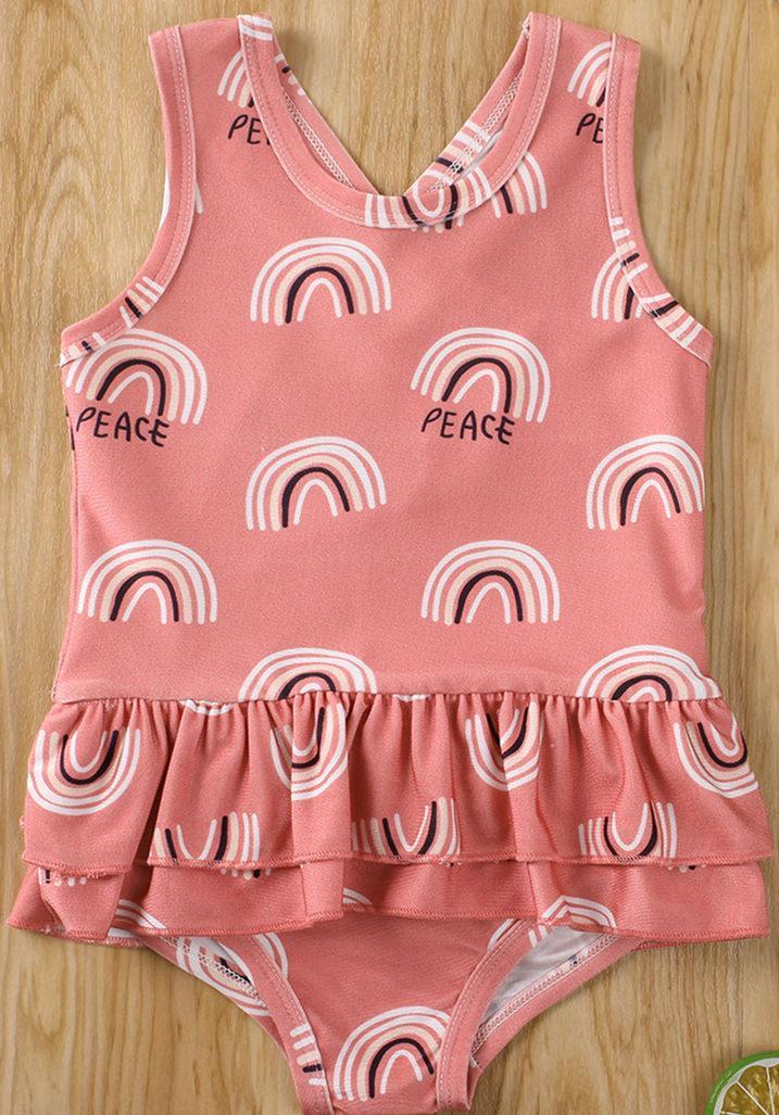 Toddler Kid Baby Girl Sweet Sleeveless One Piece Bodysuit Dress Swimwear Swimsuit 2020 Summer Bathing Suit Beachwear