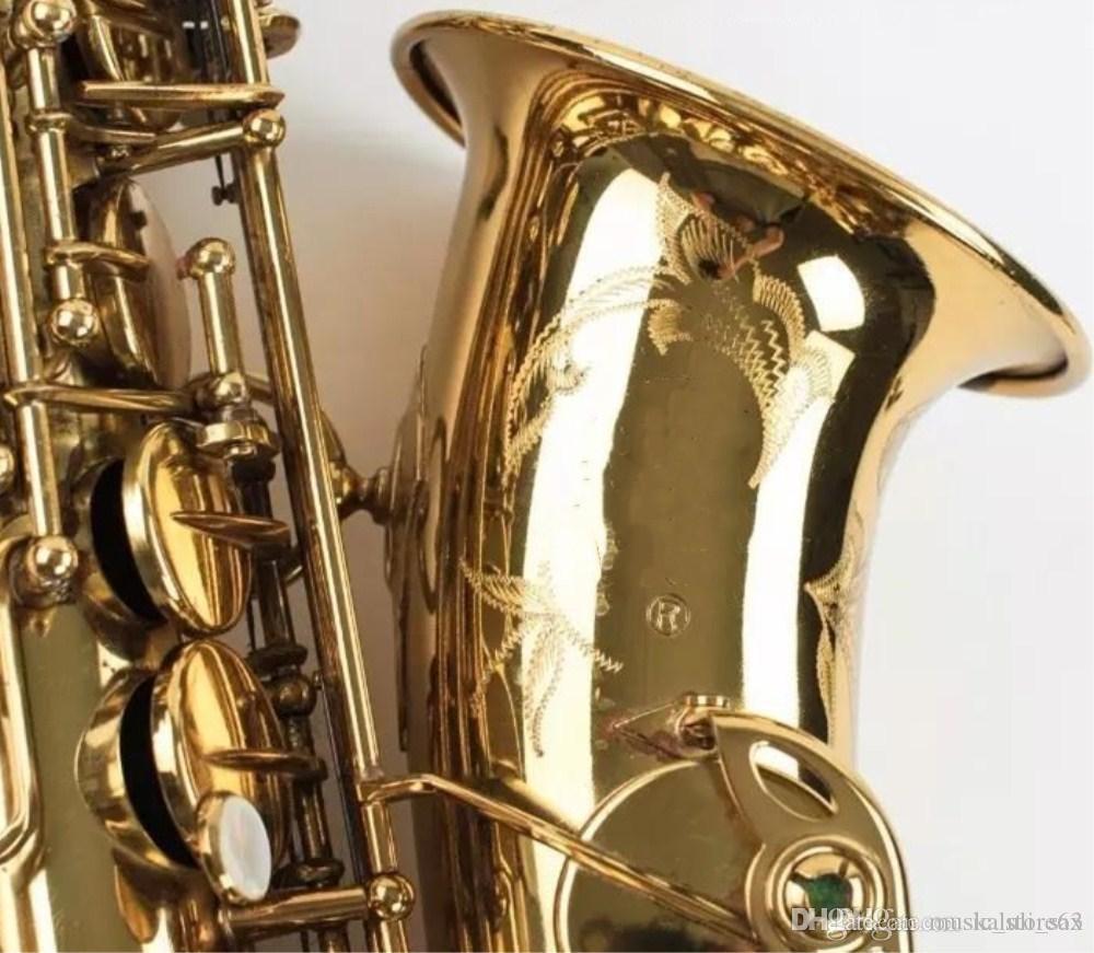 حار جودة أفضل ألتو ساكس الذهبي كافة VI E شقة المهنية الصف الآلات الموسيقية النحاسية