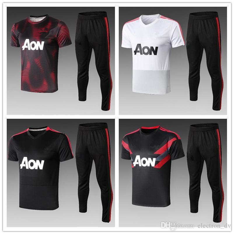 New Black POGBA ALEXIS Soccer Jersey LUKAKU UNITED 2020 UTD MATA MATIC MARTIAL Football Training Shirt Uniform Kit