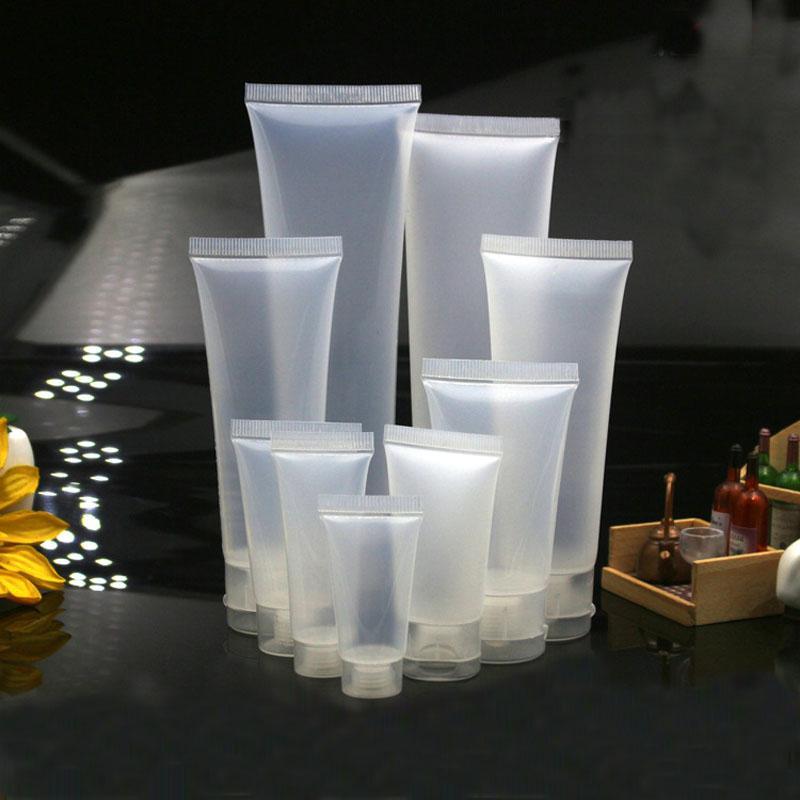 البلاستيك الخالي السفر Cosmestic لينة أنابيب متجمد زجاجة غسول شامبو ضغط الحاويات مع برغي فليب غطاء 5ML-100ML 0082pack