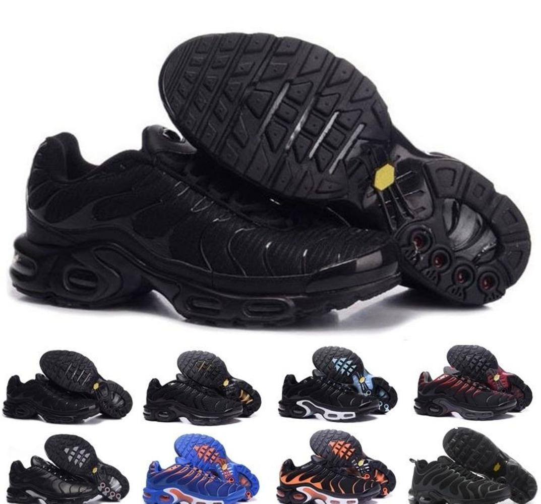 El envío libre 2019 Tn zapatos para hombre nuevo negro rojo blanco TN Plus Calzado deportivo barato TN Moda corriendo tamaño de las zapatillas de deporte 40-45