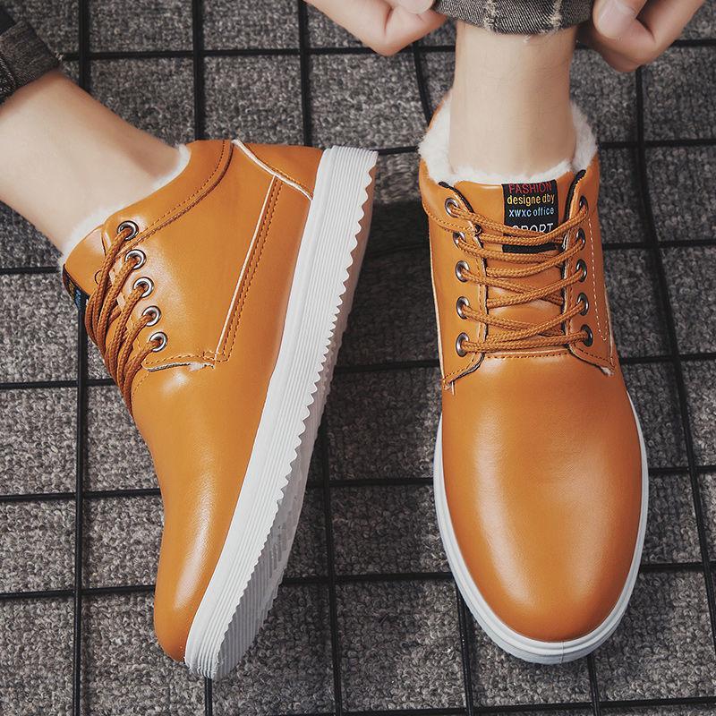 Dropshipping Homens sapatos de couro ao ar livre Sapatos casuais Soles confortáveis Lace-Up Manter SXYZ1000 Quente