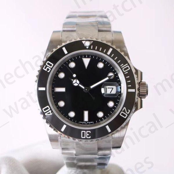 Luxo Mens Relógios V8 904L 116610LN ETA 3135 Relógios Mecânicos Automáticos Preto Verde Cerâmica Quadro Luminoso Mergulho Relógio DHL Frete Grátis