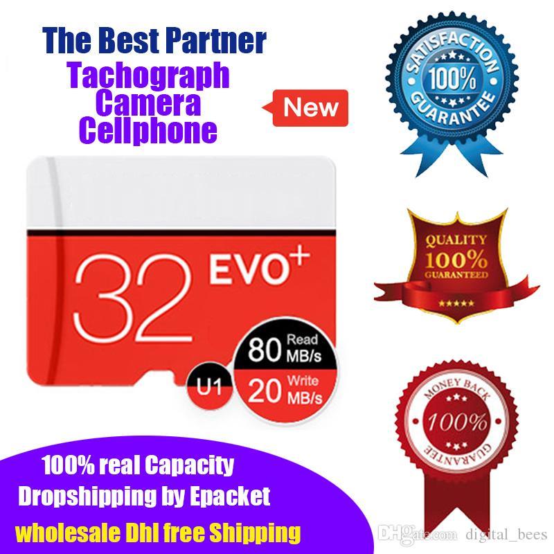 Nuevo 100% Capacidad real 32bg Tarjeta Micro SD Tarjeta de memoria TF U1 Class10 Garantía de calidad de alta velocidad Venta al por menor Envío al por mayor