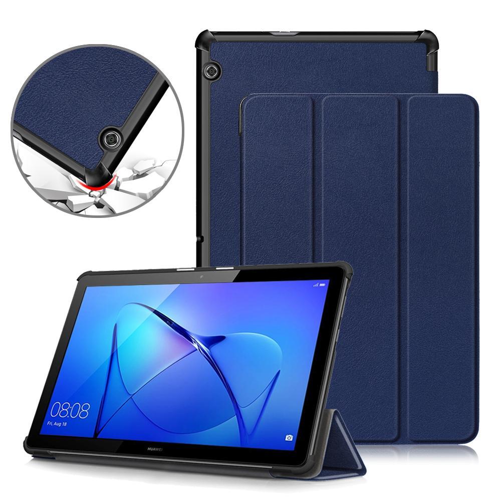 omputer Caso Oficina para Huawei MediaPad 10 T5, PU de cuero plegable de la cubierta del soporte para Huawei MediaPad T5 10,1 AGS2-W09 / L09 / L03 / W19 Tablet C ...