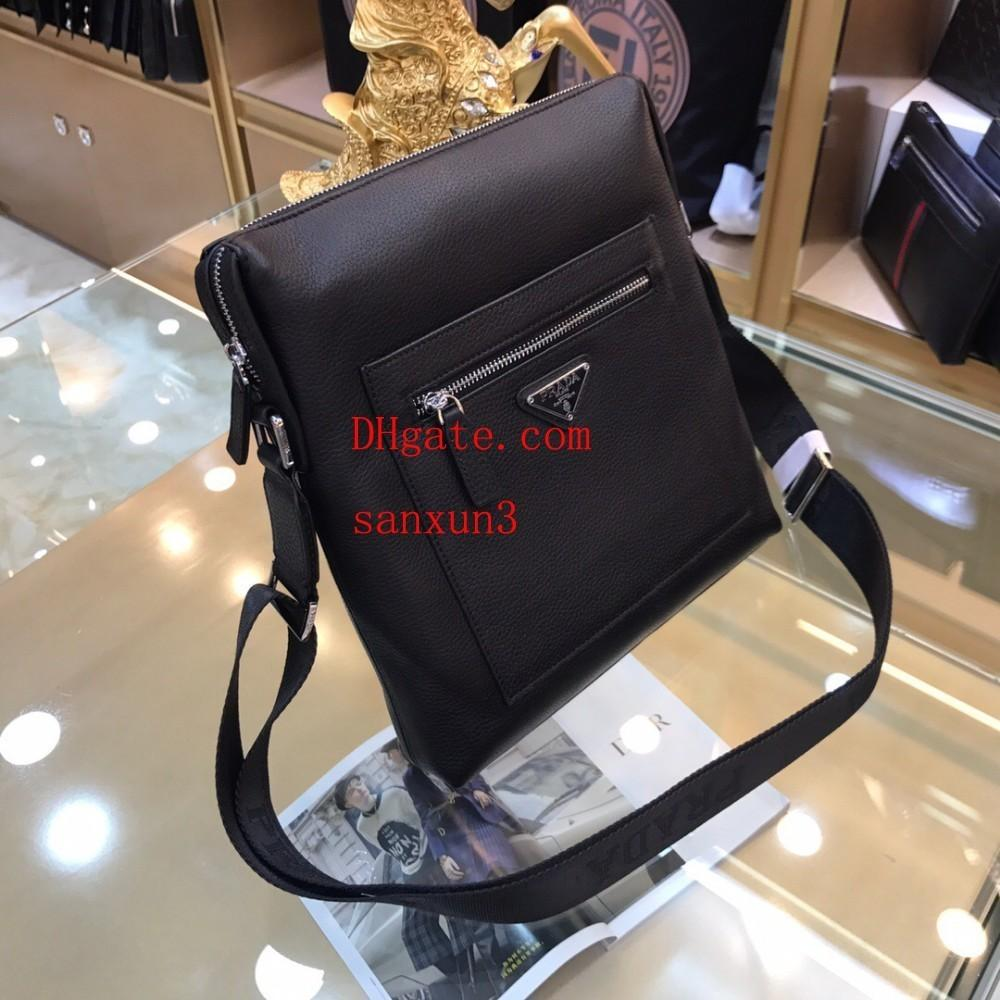 Men's shoulder bag Soft leather backpack fashion business briefcase casual youth cowhide package