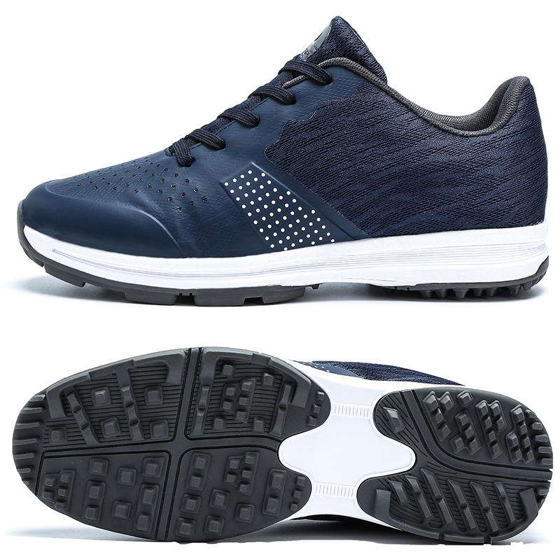 Sapatos exterior Golfe Homens profissionais impermeáveis Sneakers de golfe para treinamento Homens Primavera-Verão Walking Shoes Athletic Sneakers Masculino