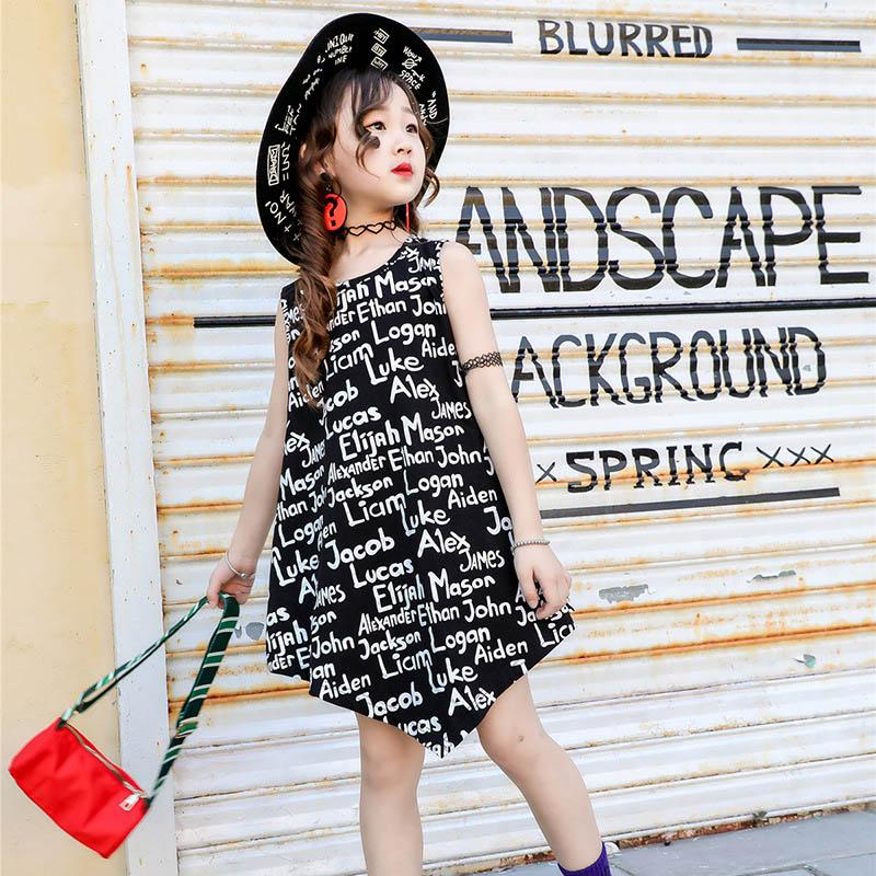 affordable price detailed images separation shoes 2019 Fashion Summer Girls Dresses Letter Kids Dresses Kids ...