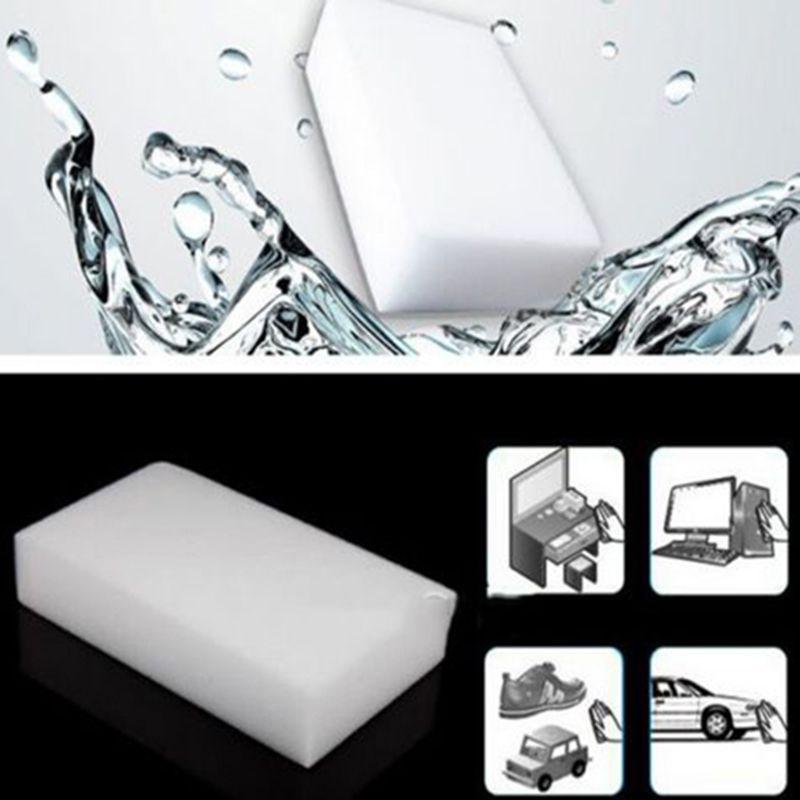 100шт Меламин Губка Магия Губка Eraser Ластик Очиститель для очистки Губка для кухни Инструментов ванной Клининговых 10 * 6 * 2