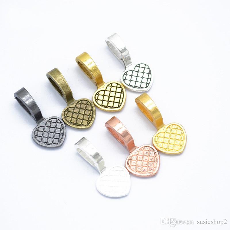 Massa 500pcs Calor Vintage Bails ~ cola na ~ Misturar E Combinar Pendant Bails Para FX vidro Pieces, Stones, vidro Gems E Madeira