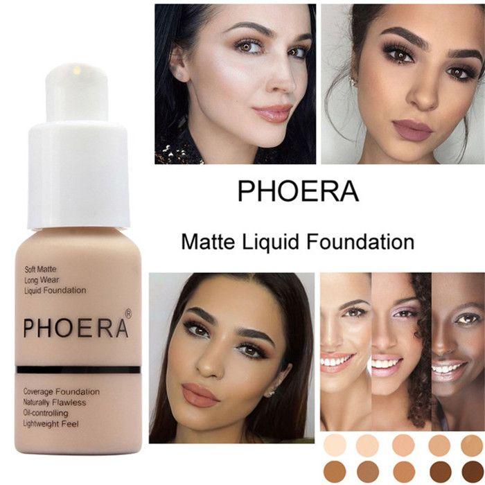 PHOERA мягкий матовый свет крем длительное жидкое лицо Фонд макияж покрытие Фонд естественный контроль масла Maquiagem бесплатно DHL 60 шт.