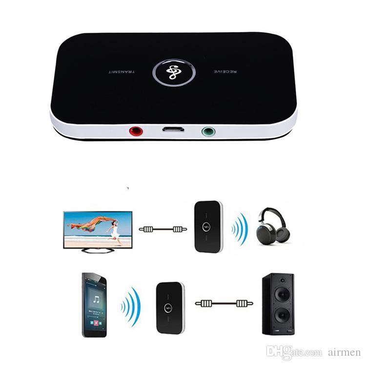 جديد بلوتوث محول الصوت بلوتوث 4.1 الارسال والاستقبال 2 in1 3.5mm عدة السيارة للتلفزيون المنزلي سماعات نظام ستيريو المتكلم