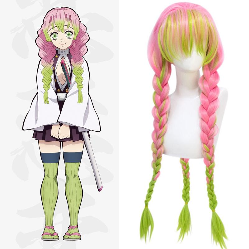 Dianqi Demon Slayer Kanroji Mitsuri Braid Cosplay Wigs With Bangs Light Green Pink Anime Synthetic Long Wigs Easy Matching Braided Wigs Best Lace Wigs From Jiami 20 44 Dhgate Com A slayer's will by kevtrax8130 (kev) with 7,703 reads. dianqi demon slayer kanroji mitsuri