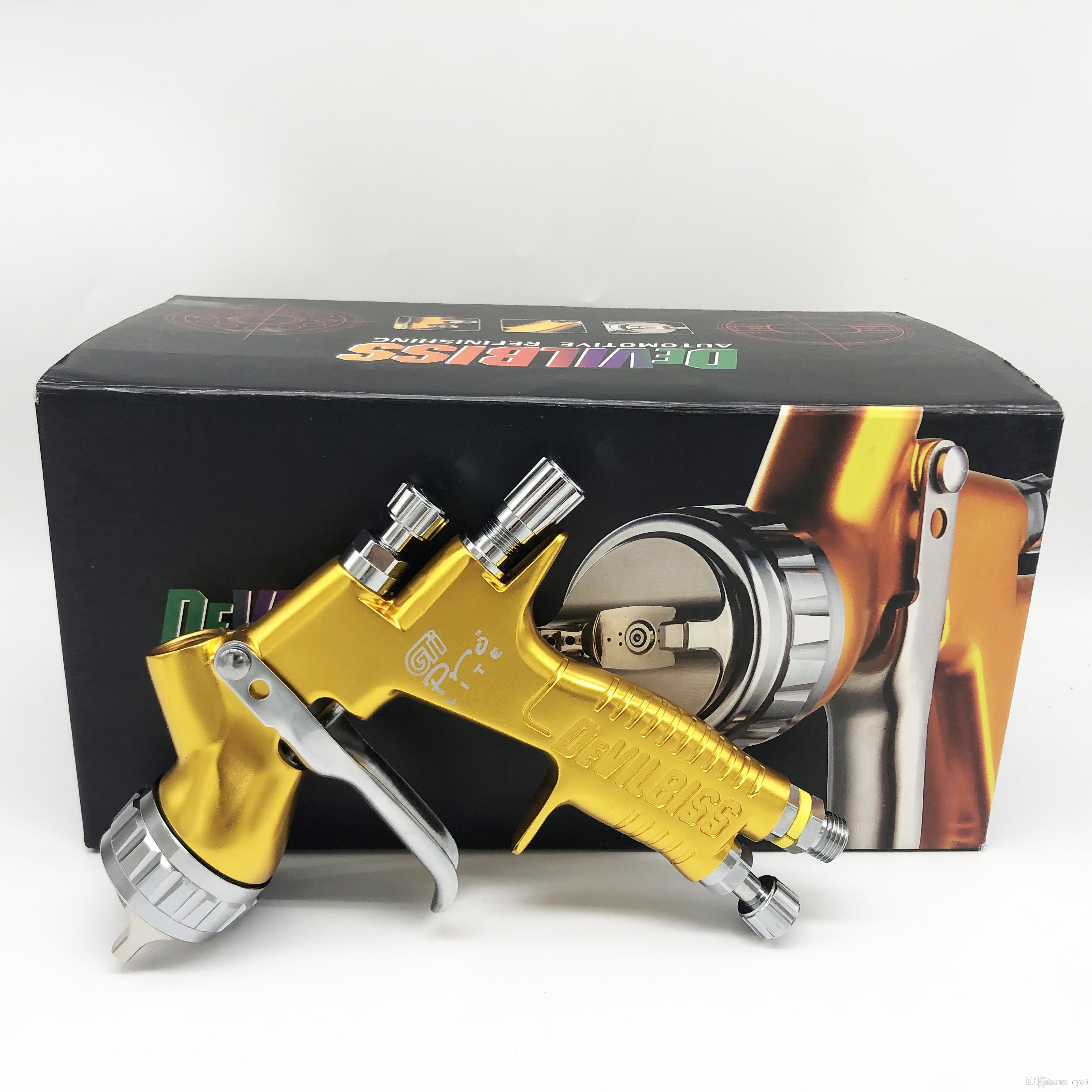 DeVilbiss pistola de pintura GTI pro TE20 / T110 Airbrush arma airless spray para pintar carros