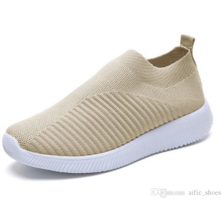 Femmes Tricot Sock Sockers Designer Chaussures Chaussures Fille Flat Entraîneurs Fashion Runner Casual Chaussures de taille 35-43
