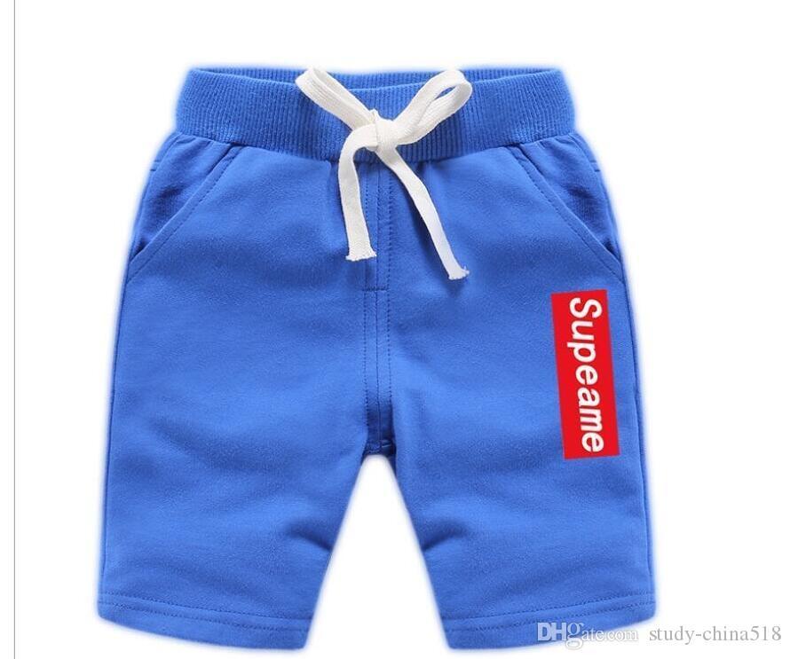 Moda de verano traje de baño para niños pantalones playa coreana pantalones de guardería cinco puntos pantalones bikini jeans envío gratis