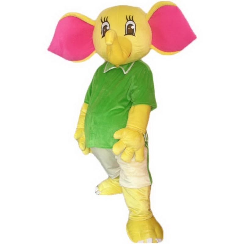 Giallo Elefante del costume della mascotte dei cartoni animati adulto di formato di alta qualità Longteng (TM) 03