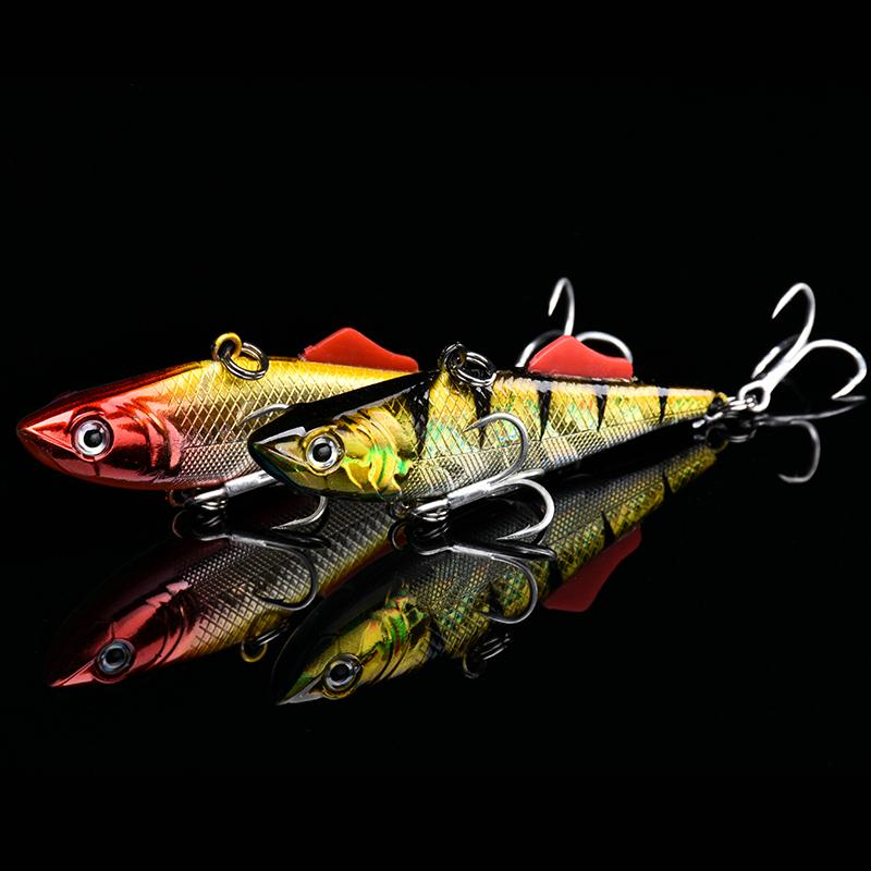 Kalika Vib 65s Sinking Vibration Fishing Lure Hard Plastic Artificial Vib Winter Ice Jigging Pike Bait Tackle Isca Peche