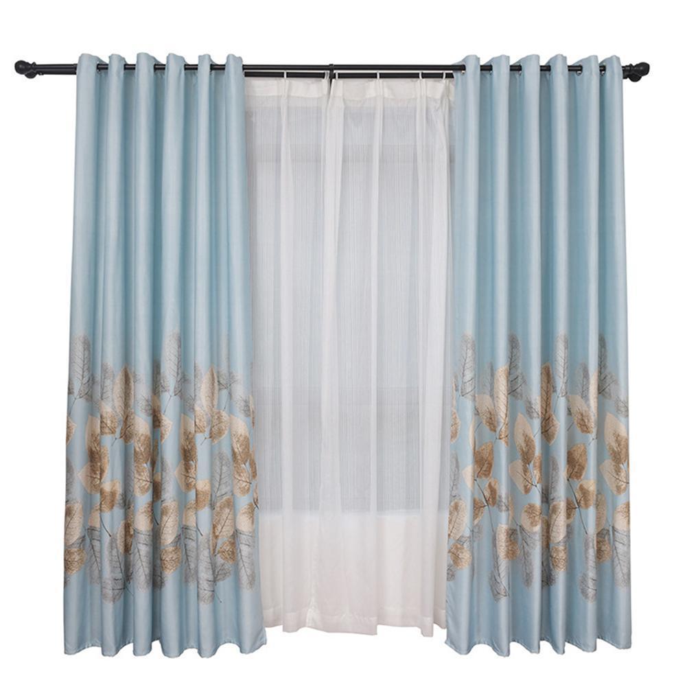 1 PZ Foglie Modello Ombreggiatura Tende per tende finite tende tende oscuranti per soggiorno tende della camera da letto