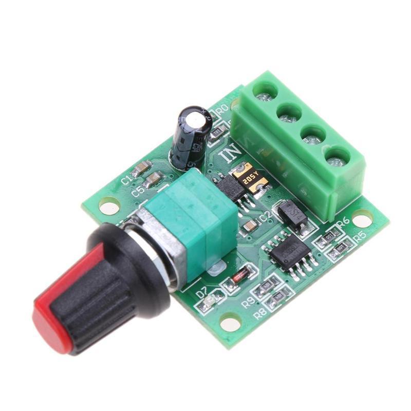 Moteur 32 pas cher Controller * 32 * 15mm DC New 1,8 3 5 6V 12V 2A basse tension contrôleur de vitesse de moteur pour fournir un courant continu