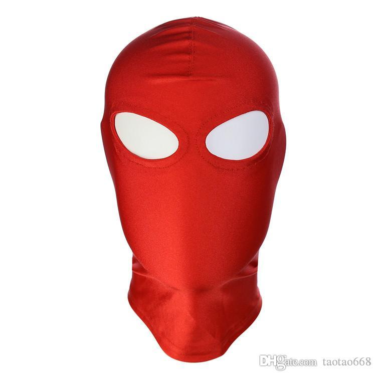 New Arrival Adult games Fetish Hood Mask BDSM Bondage Black Spandex Mask Sex Toys For Couples 6 Specifications To Choose