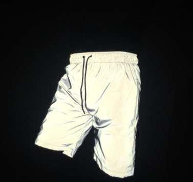 Harem Pants Cross-pants Night Shining Riflettente sicuro Flash luminoso Jogger Outdoor Sport Men Short Pant Running