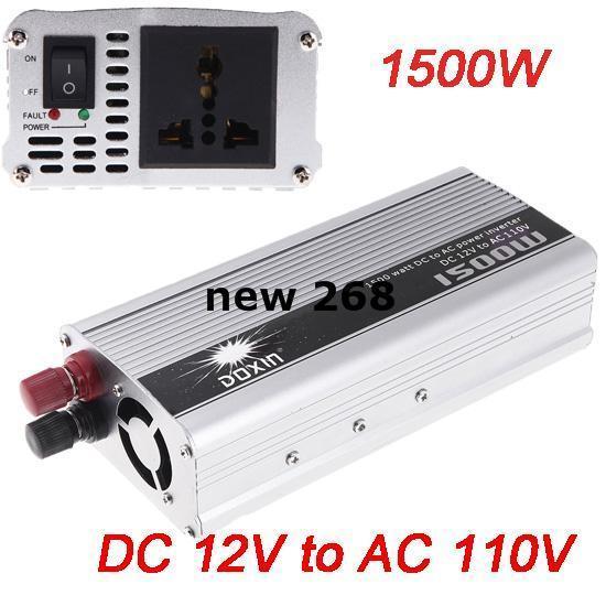 Portable Car Charger 1500W WATT DC 12V To AC 110V 50 Hz Car Power Inverter  Converter Transformer Power Supply 1000 Watt Power Inverter 300 Watt