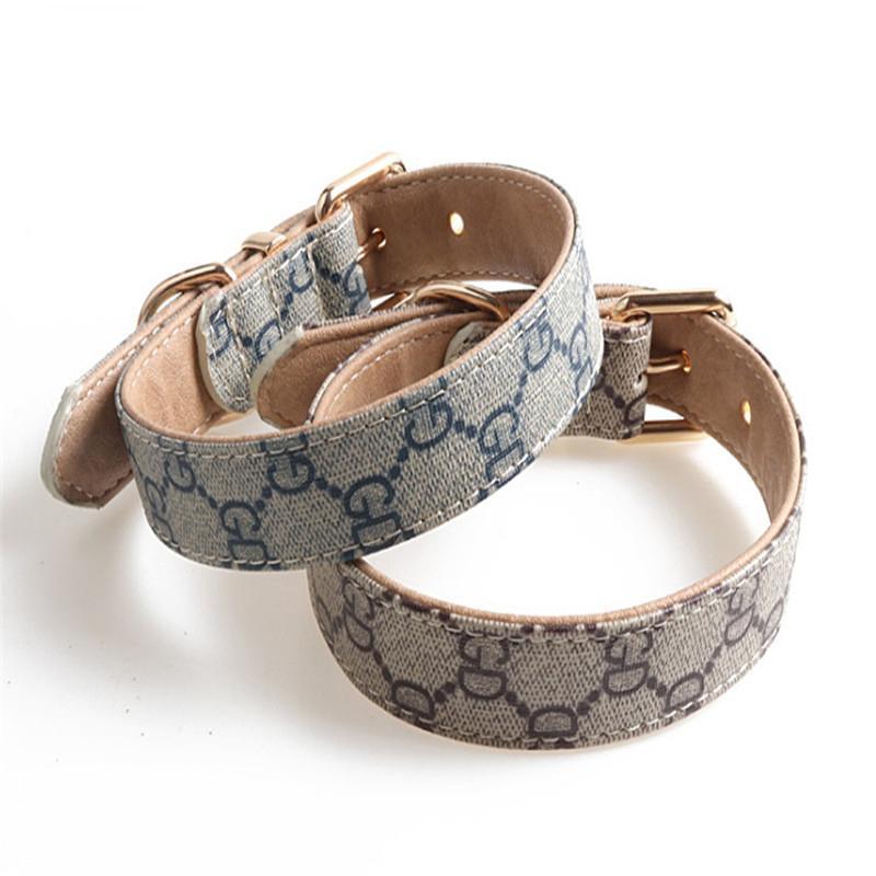 New Classic Designer collier de chien de traction corde HASARD collier de chien en cuir PU Animaux Colliers Accessoires Collier pour chien 2020