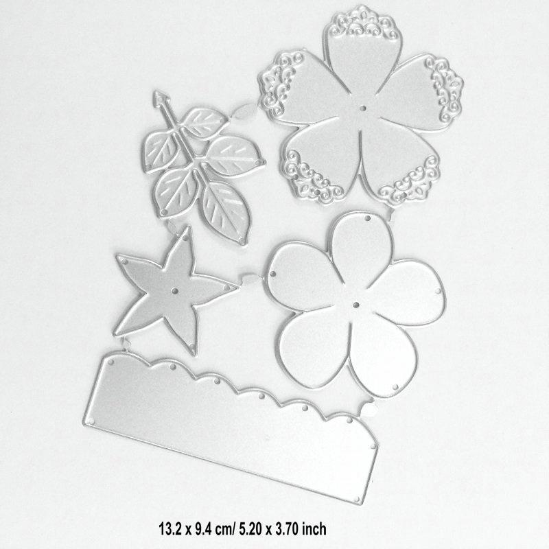 Çiçek Seti Kesme Dies Metal Elek DIY Scrapbook Kart Albüm Kağıt Kabartma El Kesme Dekor Sanat Yaprak Şube Die