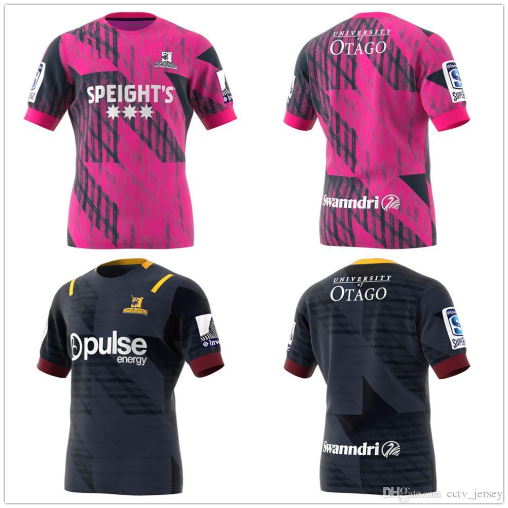 venda quente melhor qualidade 2020 Nova Zelândia Super Rugby Jersey escoceses Training Jersey League camisa Highlander Jerseys casa de rugby