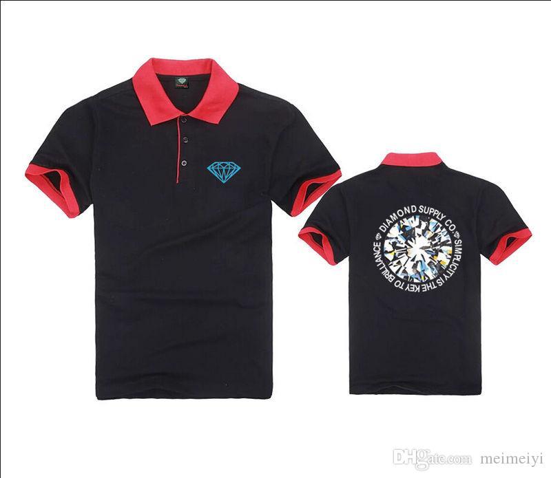 K100364 frete grátis mens moda polo t-shirt casual fitness skate ganhos marcelo cor preto bule vermelho