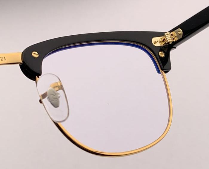 Wholesale-2019 di marca del progettista degli occhiali Club Maestro Uomini disposto Semi Cerchiato Retro occhiali Oculo De Sol Feminino retrò chiaro obiettivo 5154